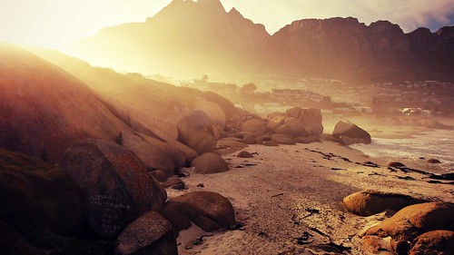 light summer beach nature sunshine sunrise landscape southafrica capetown flare