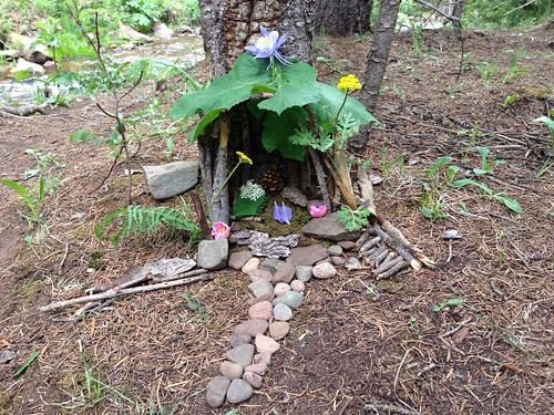 An outdoor fairy house built by Rachel and Mom | by Wesley Fryer