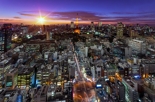 city sunset japan night landscape tokyo evening cityscape nightscape pentax tokyotower 東京 夜景 夕景 東京タワー k5 pentaxk5