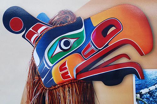 Toquaht Nation Artwork in Toquart Bay, Barkley Sound, West Coast Vancouver Island, British Columbia