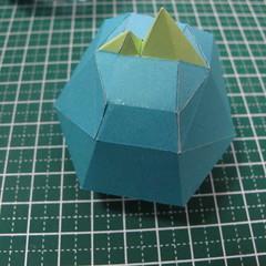 วิธีทำของเล่นโมเดลกระดาษรูปนก (Bird Paper craft ) 019