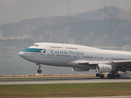 Cathay Pacific 747 Touching Down | by mikecogh