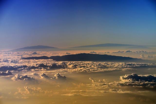 Mauna Kea, Mauna Loa, Hualālai, and Haleakalā (a0004466)