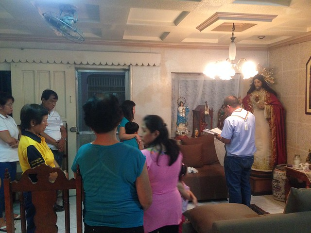 Our image of Christ blessed for the second time by healing priest, Fr. Nelson Osorio OSJ