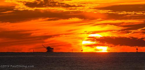 sunset fall beach gulfofmexico clouds landscape unitedstates alabama sunsets dailyphoto gulfshores naturalgas baldwincounty gulfshoresalabama baldwincountyalabama d7000 naturalgasrig pauldiming gulfshoresbaldwincounty naturalgasoffshoredrillingrig