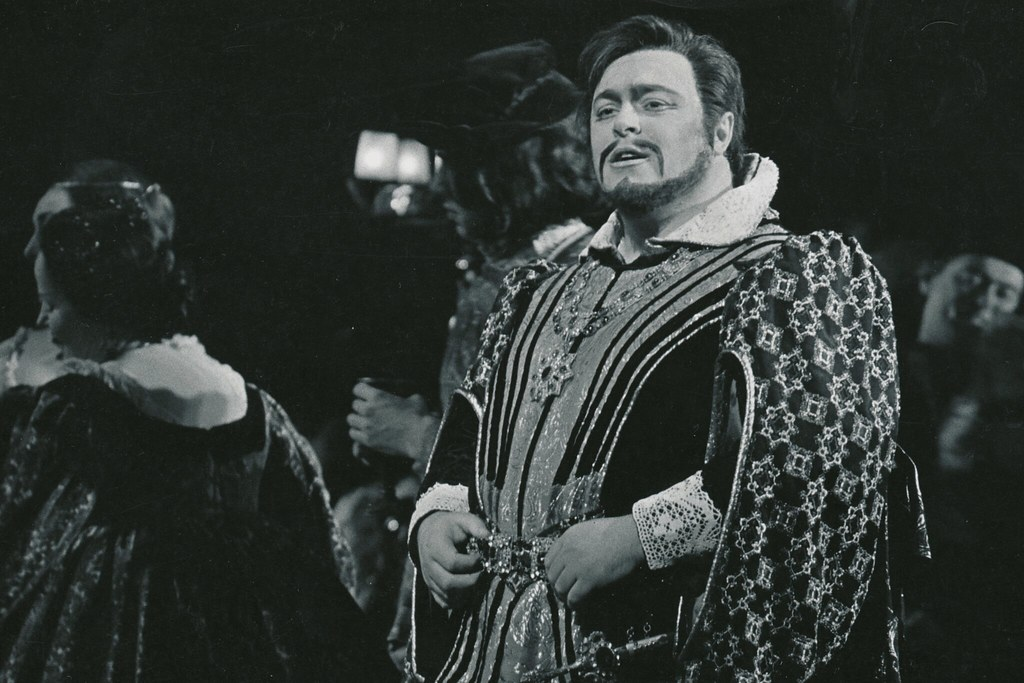 Luciano Pavarotti as The Duke of Mantua in The Royal Opera revival of 'Rigoletto' 1970/71  © 1971 Royal Opera House/Donald Southern
