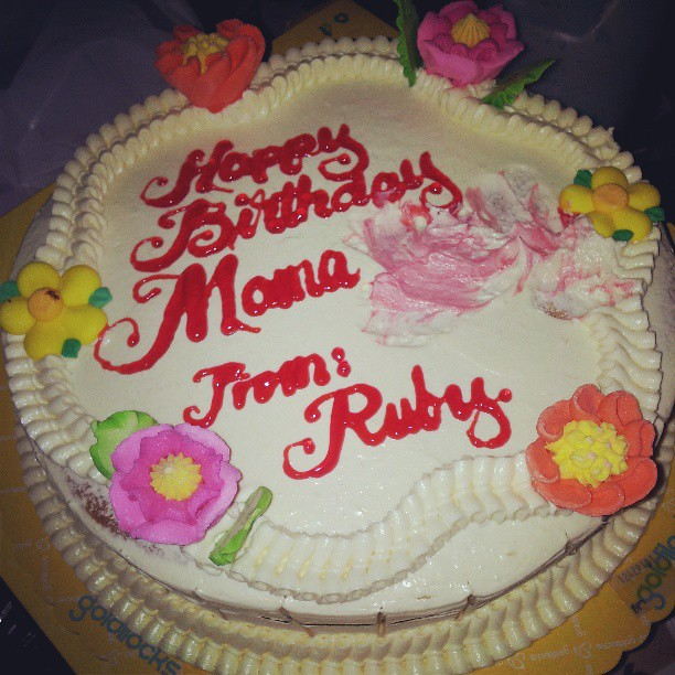 Marvelous Mamalas Bday Cake Imbes Mama Vicky Nsaup Ang Goldilocks Flickr Funny Birthday Cards Online Alyptdamsfinfo