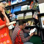 Lots of bookshop browsing! |