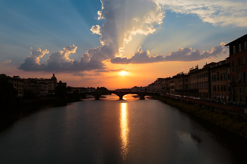 Florence, Arno river sunset | by Sebastian Anthony