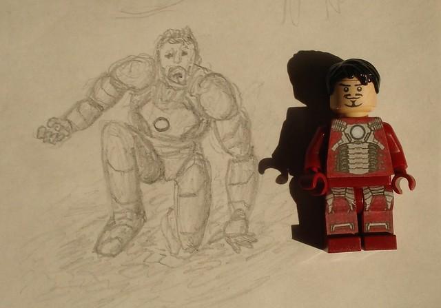 Iron Man drawing size comparison