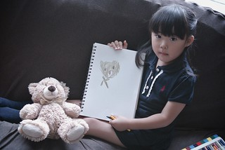SAKURAKO draws a picture of bear. | by MIKI Yoshihito. (#mikiyoshihito)