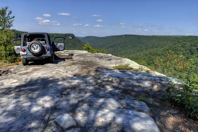 Bee Creek Overlook, Latimer High Adventure Reservation, Van Buren Co, TN