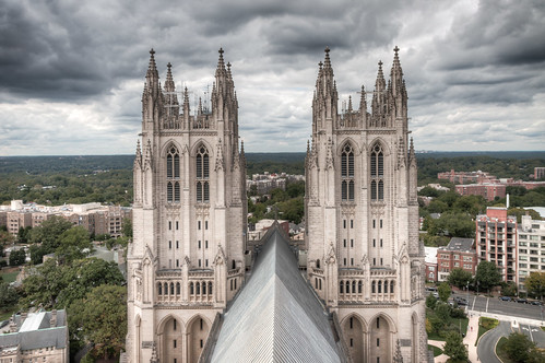 roof tower clouds canon climb dc washington view spires towers arches 7d dcist hdr nationalcathedral 2013