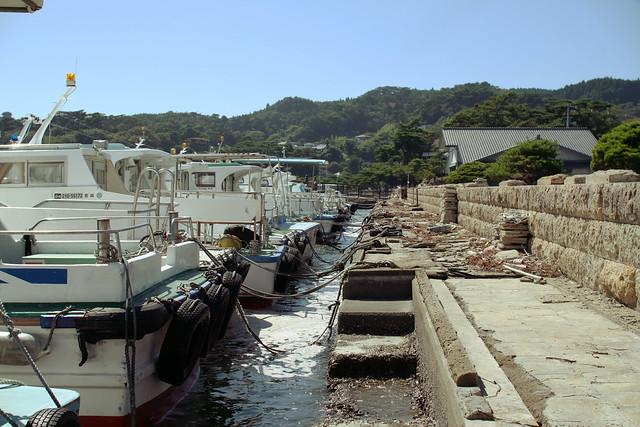 Parked boats at Matsushima