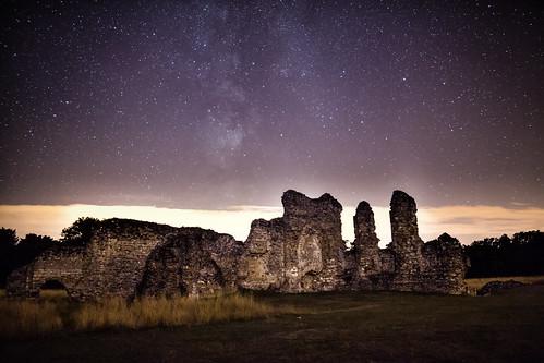 abbey night way stars ruins milky waverley earthandspace