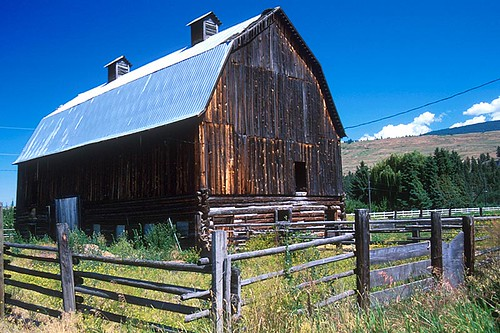 Barn in Kelowna, Okanagan Valley, British Columbia, Canada