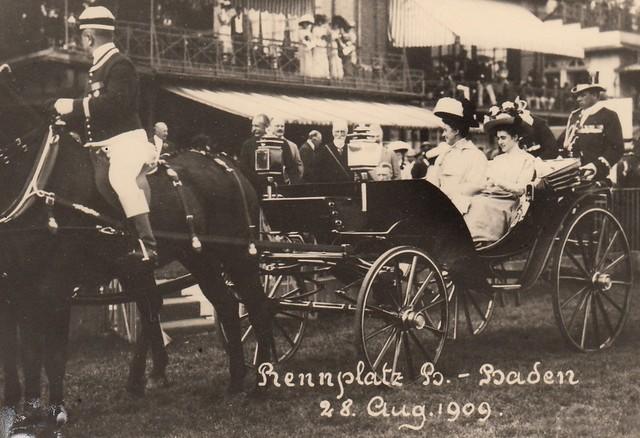 1909 Großherzogin Hilda von Baden in der offenen Kutsche