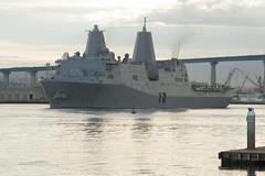 USS Green Bay (LPD 20) departs San Diego, Jan. 26. in (U.S. Navy/MCCS Donnie W. Ryan)
