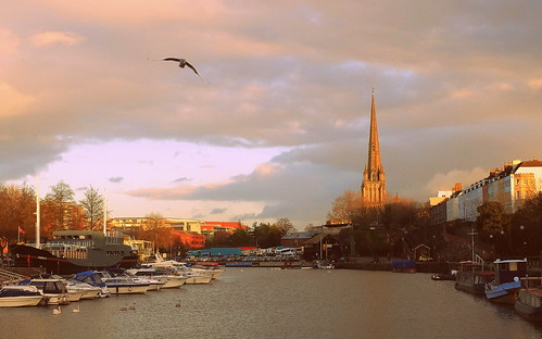 sunset bird bristol boat fuji harbour bateaux coucherdesoleil xm1 saintmaryredcliffe