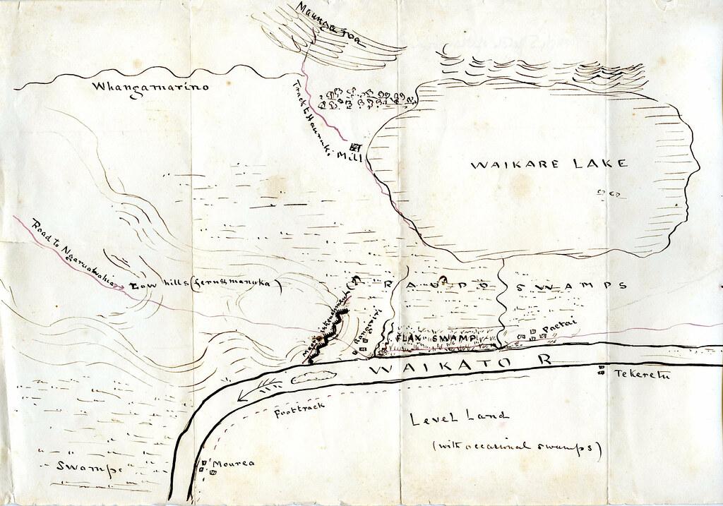 Waikato New Zealand Map.Rough Sketch Map Of Rangiriri And Paetai On The Waikato R Flickr