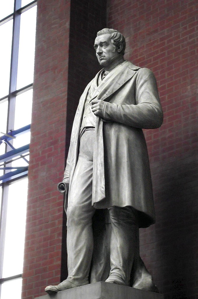 Statue of George Stephenson, by Edward Hodges Baily RA FRS