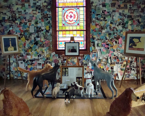sculpture dog mountain dogs window glass saint st statue bench vermont photos interior statues chapel stained sculptures johnsbury