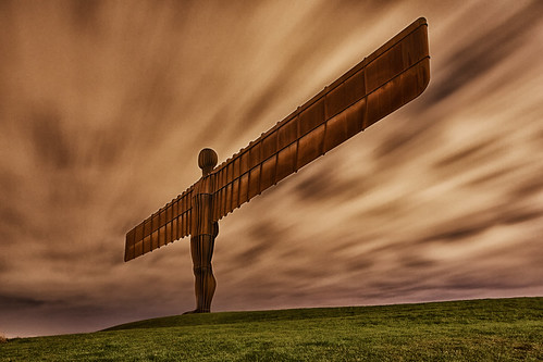uk longexposure statue night artwork darkness gateshead northeast angelofthenorth maglite antonygormley tyneandwear tiltshift northernengland lightpainted canon24mmtse canon5dmk3 markmullenphotography