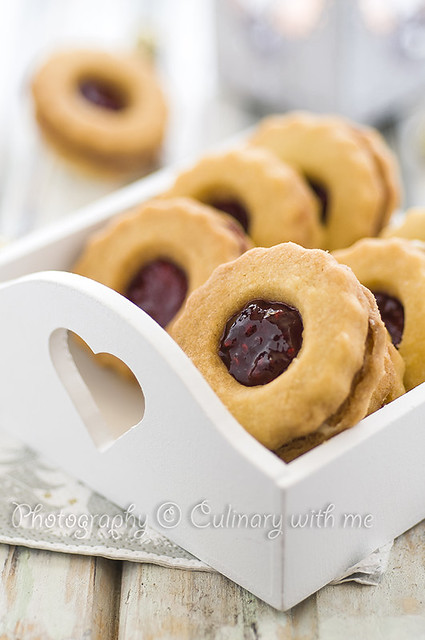 Homemade Linzer cookies