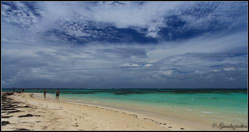 mer canon eau turquoise ciel nuage plage 1022 guadeloupe portlouis barrière ilet corail pointeàpitre 60d