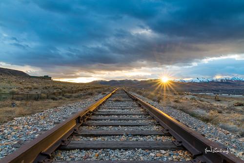 railroad sunset lines clouds landscape utah nikon cloudy tracks sigma rail parallel draper leadinglines tresspass 24105mmf4 sigmaart d800e
