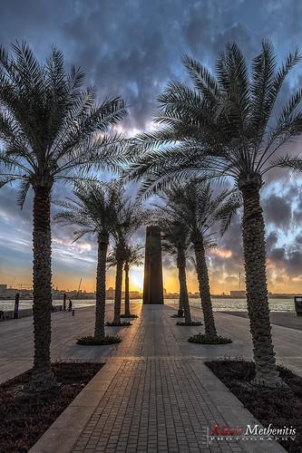 street blue winter sunset sea sky green water canon reflections rocks day qr doha qatar eosdeurope canontse24mmf35lii canoneos5dmkiii