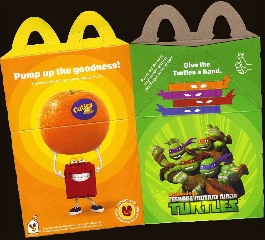 "McDonald's Happy Meal :: ""TEENAGE MUTANT NINJA TURTLES & Sweethearts""  box ii  (( 2015 )) by tOkKa"