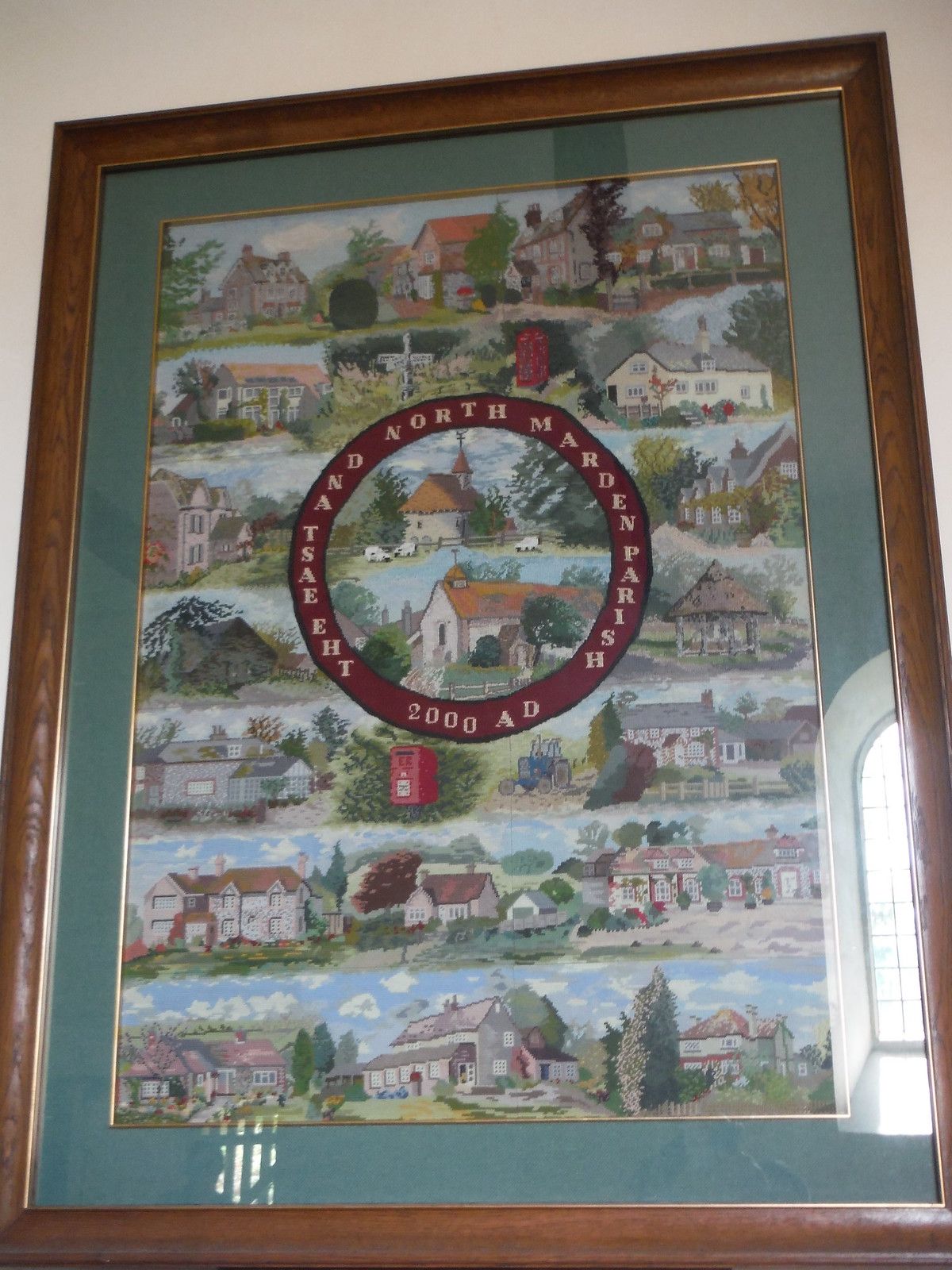 Millenium Tapestry, St. Peter's, East Marden SWC Walk Rowlands Castle Circular