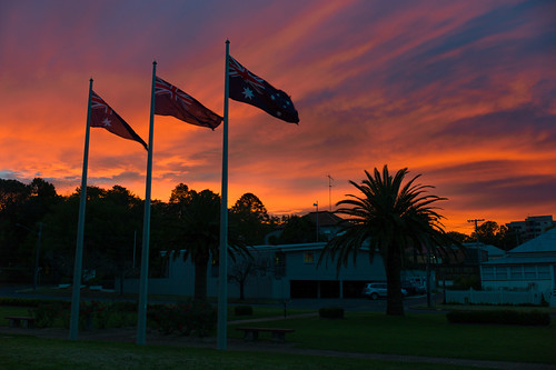 leica morning sky clouds sunrise 35mm dawn twilight flag australia summilux toowoomba