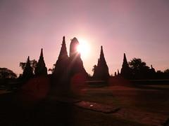 Sonnenuntergang in Ayutthaya - Wat Chai Wattanaram