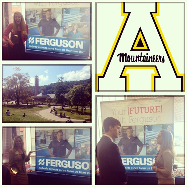 Thanks for an AWESOME career fair, #AppState! | Ferguson Showrooms