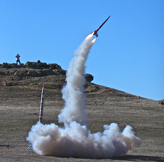 Oops!   My son's Epic cluster rocket going horizontal | by jurvetson