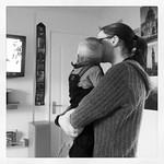 George & Rosie watching the rugby :-)