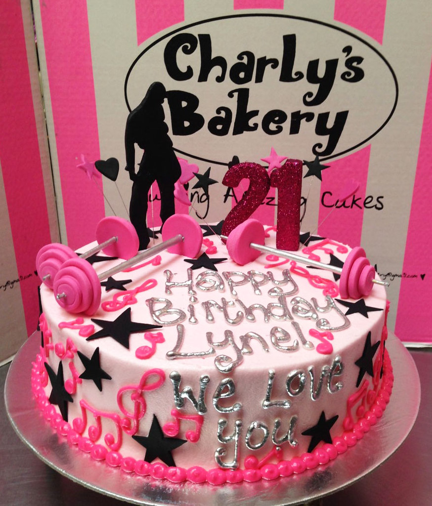 Groovy 21St Birthday Cake With Piped Musical Notes Hip Hop Dancer Personalised Birthday Cards Beptaeletsinfo