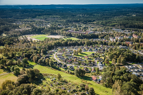 sverige swe västragötaland borås flygfoto trandared
