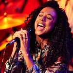 Tue, 14/06/2016 - 9:32pm - Corinne Bailey Rae and her band perform for an audience of WFUV Marquee Members at Rockwood Music Hall in New York City, 5/23/16. Hosted by Eric Holland. Photo by Gus Philippas