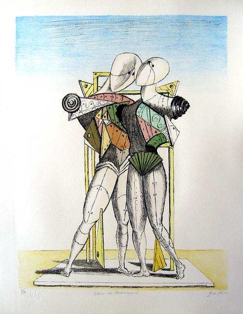 de Chirico - Hector and Andromache [1974]