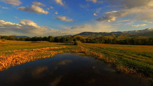 ranch usa art nature water clouds reflections reeds landscape pond unitedstates artistic idaho pasture northamerica rockymountains wetland drone ranchland dji cattleranch salmonidaho lemhimountains quadcopter lemhicounty lemhivalley phantom3professional lemhiroad lemhirivervalley