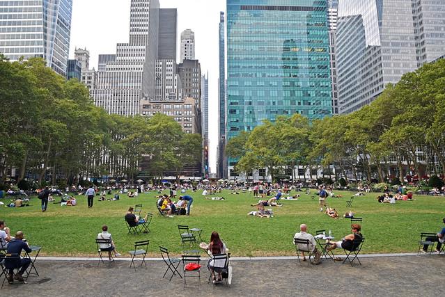 Lunchtime at Bryant Park, Manhattan, New York