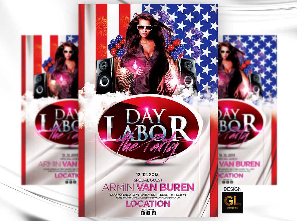 Labor Day Flyer Template Free from live.staticflickr.com