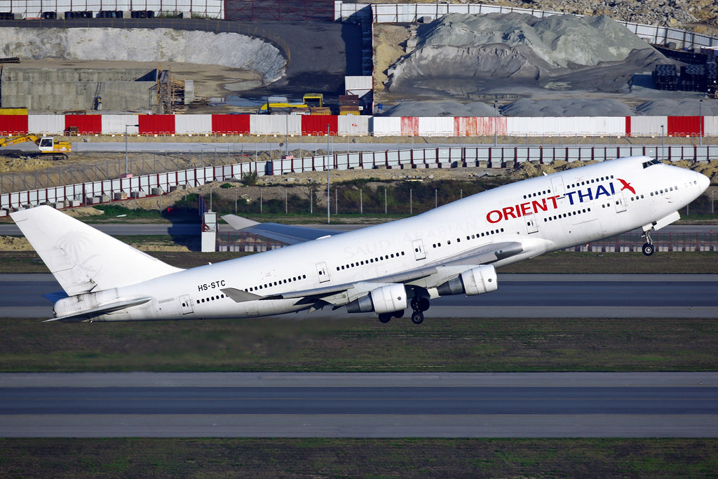Orient Thai Airlines Boeing 747 412 Hs Stc Hong Kong Chek Flickr