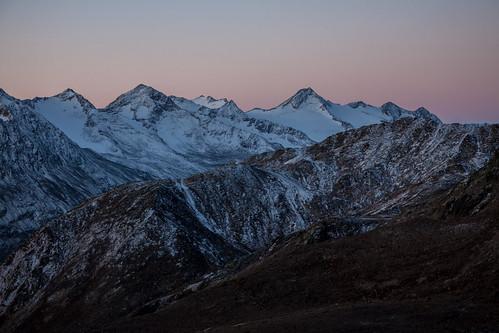mountains sunrise vent tirol österreich berge alpen blauestunde