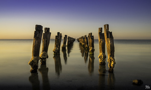 sunset pier au australia victoria goldenhour bellarinepeninsula cliftonsprings pentaxart cliftonspringspier