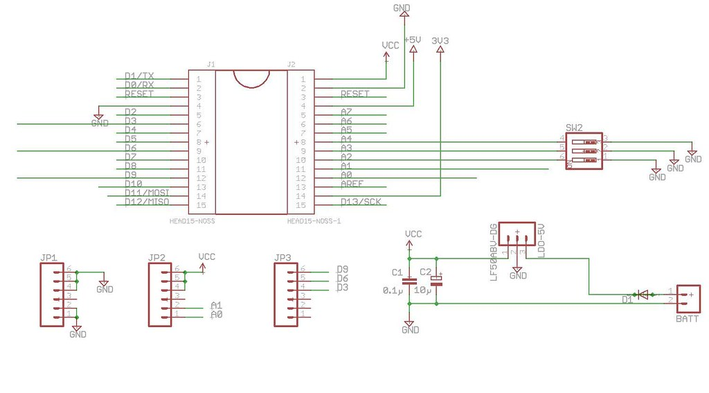 v2.6schemat | Eagle Cad schematic of the PCB for the SkyShie ... on