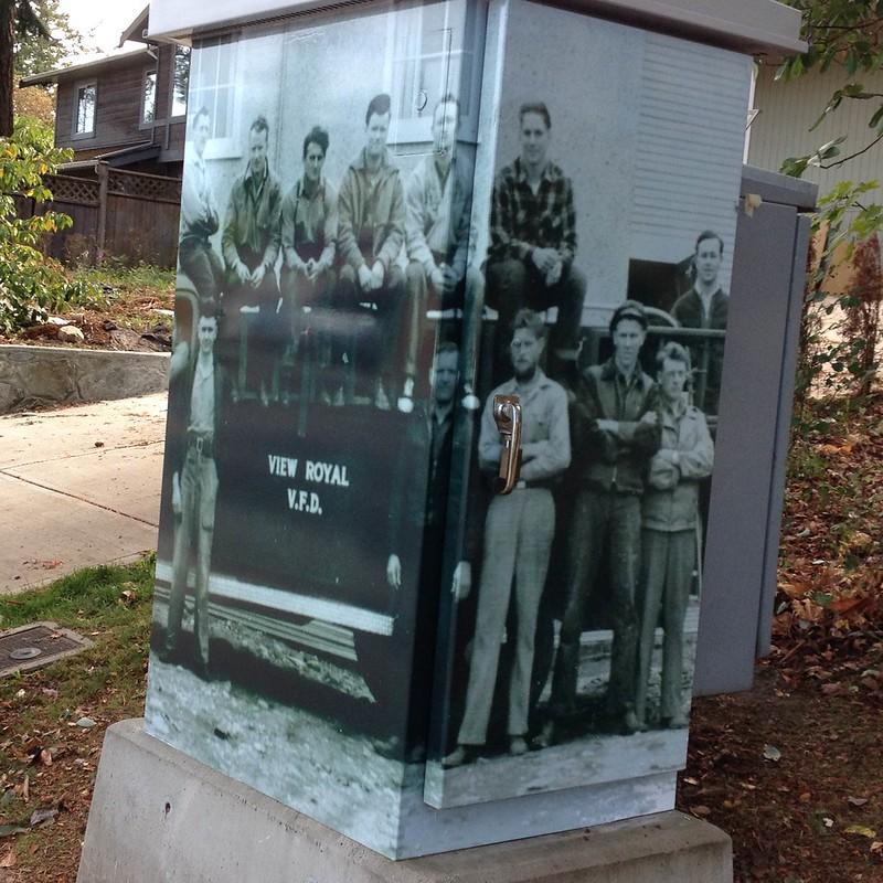 View Royal utility box wrap